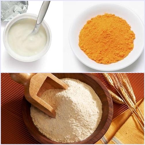 Bài thuốc dân gian trị mụn hiệu quả bằng bột gỗ đàn hương + bột nghệ + sữa tươi