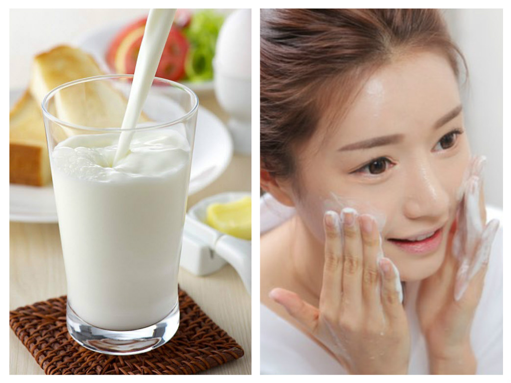 Sữa tươi cũng là cách trị mụn thâm đen hiệu quả