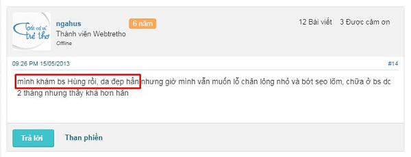 Phó giám đốc bệnh viện da liễu Thanh Hóa