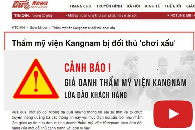 Video chứng minh thẩm mỹ viện Kangnam Đà Nẵng là giả mạo