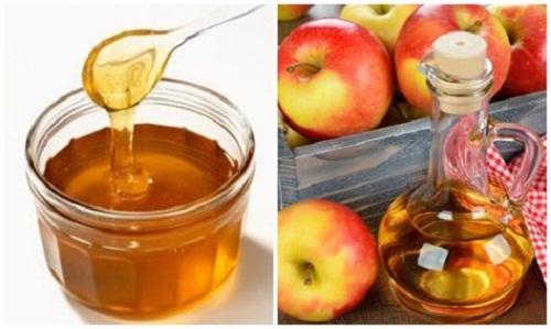 giấm táo mật ong trị mụn