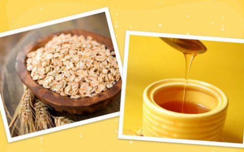 mặt nạ yến mạch mật ong trị mụn