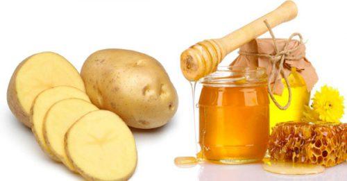 mặt nạ khoai tây với mật ong