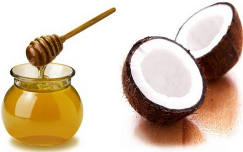 trị mụn bằng dầu dừa và mật ong