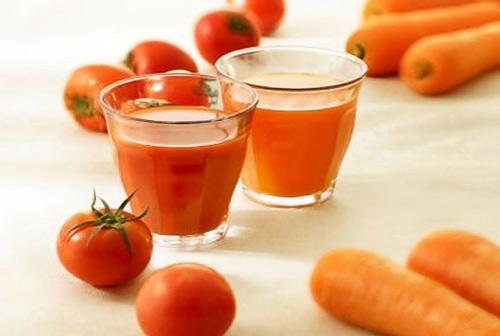 mặt nạ cà rốt và cà chua