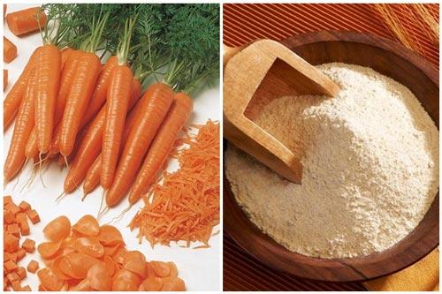 mặt nạ cà rốt bột mì