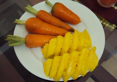mặt nạ dứa cà rốt