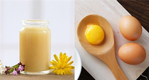 mặt nạ sữa ong chúa trứng gà