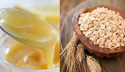 mặt nạ sữa ong chúa và bột yến mạch