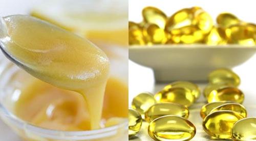mặt nạ sữa ong chúa và vitamin e