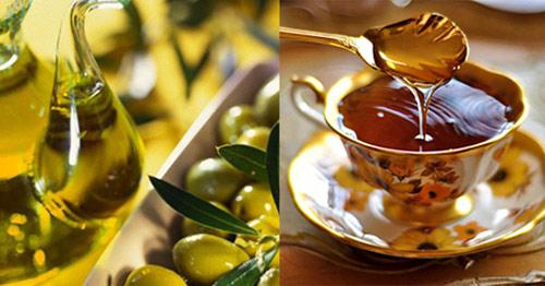 mặt nạ với dầu oliu