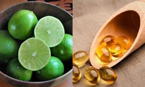 trị mụn bằng vitamin e cho da dầu